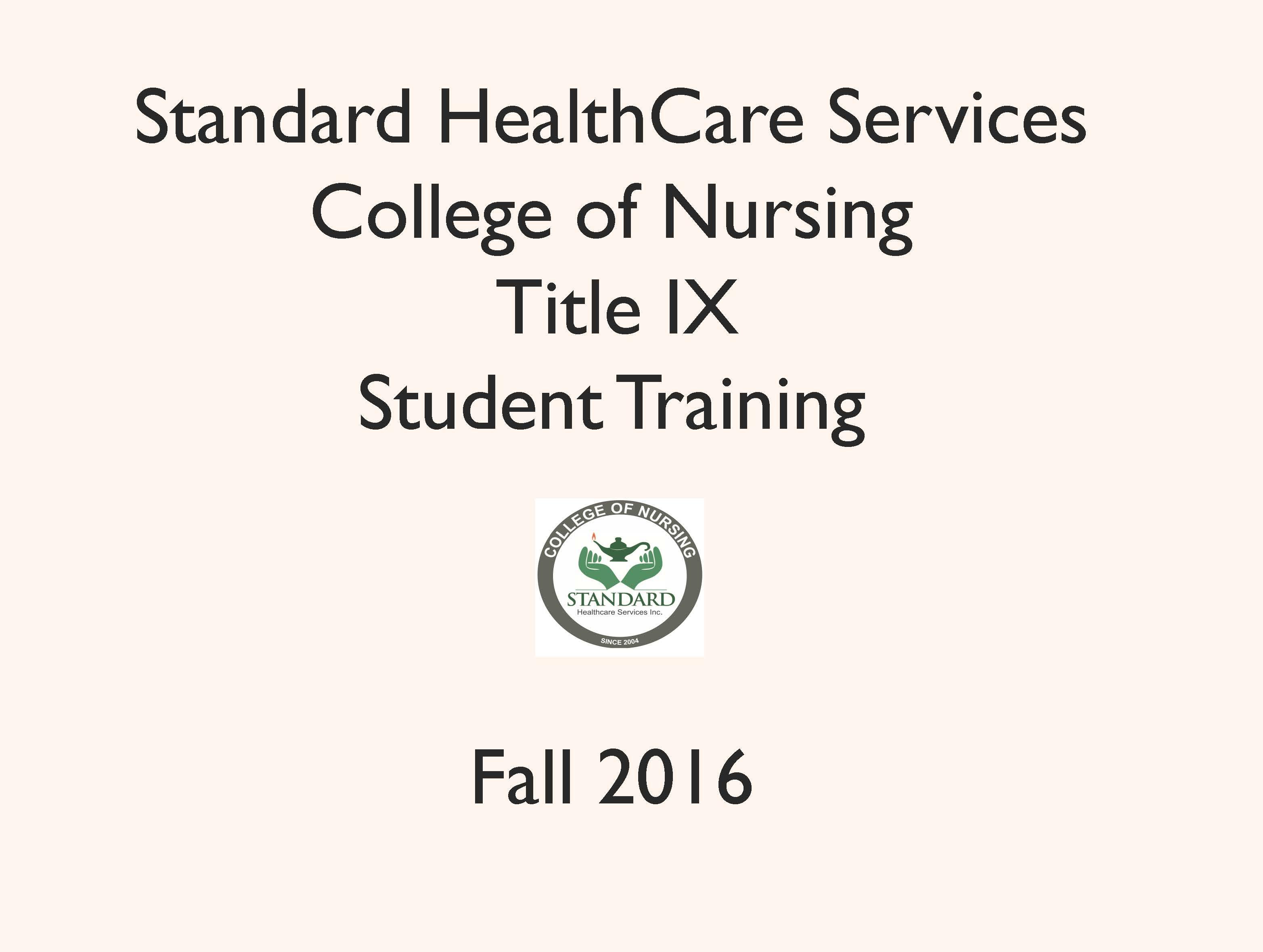 Mandatory Title IX Training